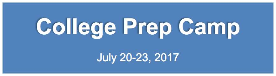 College Prep Camp Banner